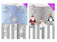 Christmas Hanging Swirl Decorations Snowflake Santa Snowman