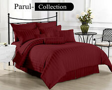 New Super Collection of Wine Striped 1000TC 100% Egyptian Cotton in All Size