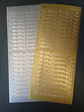Two Sheets Peel Offs Wedding Invitation Gold Silver