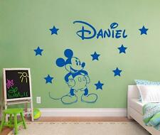 MICKEY MOUSE PERSONALIZED Decal WALL STICKER Art Home Decor Kids Bedroom ST116