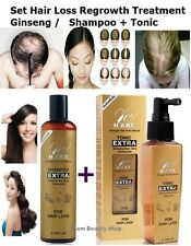 Shampo + Tonic Bio Woman Hair Extra Ginseng Regrowth Hair Loss Treatment Repair