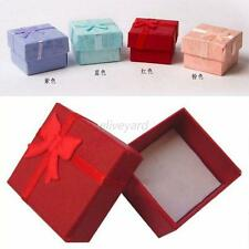 48 Pcs Lovely Ring Earring Jewelry Display Gift Bowknot Square Case Box E92
