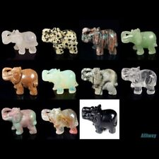 similar carved elephant statue stone craft collectible kinds of natural gemstone