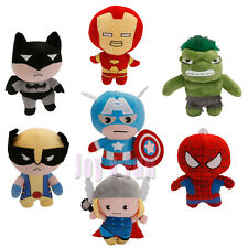 Marvel Avengers Captain America Batman Iron Man Hulk Thor Spider-Man Plush Doll