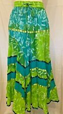 Phool 100% Cotton voile fully lied fully elasticated waist tiered crincle skirt