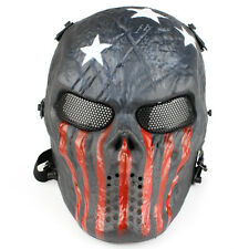 New TPU Skull Skeleton Full Face Mask Hunting Military Tactical Mask High Qualit