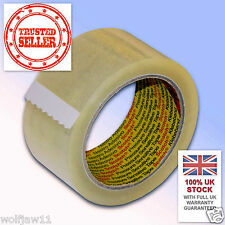 12 Rolls | 3M™ Scotch® Parcel Packing 371 Tape | 48mm x 66m | Clear Transparent