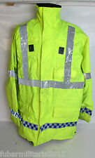 Ex Police Hi Vis Ilasco Waterproof Breathable Anorak Safety Emergency Male LARGE