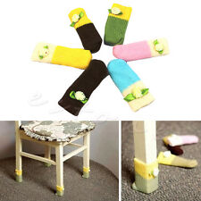 4pcs Knit Wool Floor Protector Knit Chair Table Leg Foot Sock Sleeve Cover
