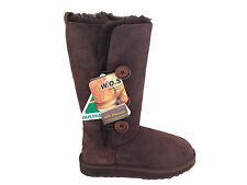 Genuine Sheepskin 3 Button Style Women UGG Boots Chocolate Colour Australia Made