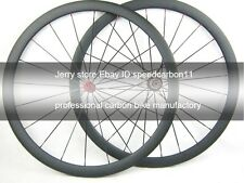 38mm deep clincher road carbon wheel,cycling wheel set 700C tubeless compatible