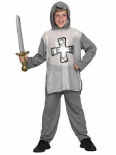 #GREY #MEDIEVAL KNIGHT BOYS FANCY DRESS MEDIEVAL & GOTHIC COSTUME NEW 3 SIZES