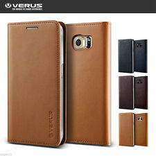 Verus Genuine Leather Flip Wallet Diary Cover For Samsung Galaxy S6 S6 Edge Case