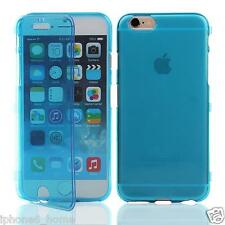 Transparent Blue Soft Silicone Gel Flip Case Cover Skin For Apple iPhone 6/6s