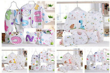 5Pcs Newborn Baby Cotton T-Shirt and Pants Boy Girl Suits Infant Clothes Sets