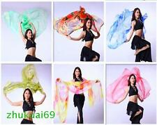 240*120cm Color gradient silk veil belly dance hand thrown shawl scarf 6 colors