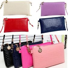 Fashion Women Handbag Shoulder Bag Wet PU Purse Tote Satchel Women Messenger Bag