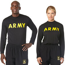 NEW W TAGS Army Physical Training PT APFU STANDARD LONG SLEEVE SHIRT ALL SIZES
