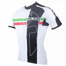 Paladin Classic Cycling Clothing Bike Short Sleeve Cycling Jersey Black White