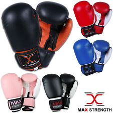 Boxing Gloves Muay Thai Grappling Fight Punch Bag Sparring Training Kick Pad MMA