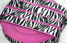 "7/8"" Hot Pink & Zebra Print Grosgrain Ribbon"