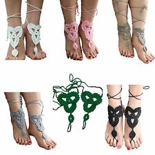 Handmade Barefoot Sandals Boho Crochet Hippy Foot Jewellery Nude Shoes Anklet