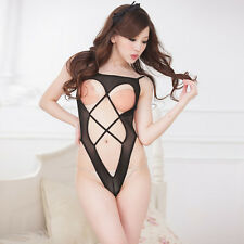 Hollow Erotic Fishnet Sheer Cupless Open Breast Lingerie SEXY Fetish Lingere