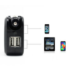AC100-240V Home Wall Charger & DC12-24V Car Charger Power Adapter to DC 5V 2.1A