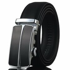 Fashional New Mens Automatic Buckle Genuine Real Leather Waistband Belt Straps