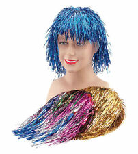 #TINSEL WIGS 7 COLOURS 1970s FANCY DRESS HEN PARTY DISCO ACCESSORY