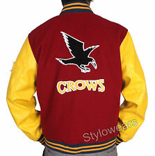Crows Varsity Letterman Jacket Smallville Clark Kent Superman Mens DC TV Series