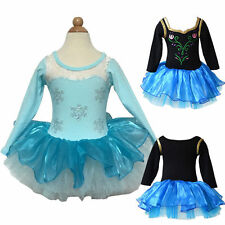 Kid Girl Ballet Dress Princess Leotards Skirt Tutu Long Sleeve Clothing 2-8Yrs