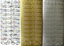 HAPPY EASTER PEEL OFF STICKERS Easter Bunny Eggs Rabbits Bunnies Cardmaking
