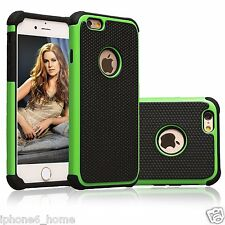 Heavy Duty Tough Armor 2 in 1 Dual Layer Green Case Cover For Apple iPhone 6/6s