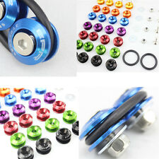 M6x20 Aluminum JDM Engine Bay Bumper Fender Washers Kit Bolt Screw 8 Colors BLS