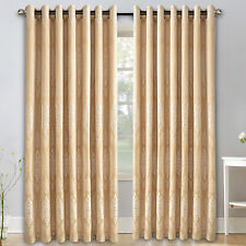 RING TOP FULLY LINED PAIR EYELET READY MADE CURTAINS 66X72 & 90X90 GOLD