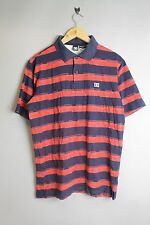 DC 51830027 BLASTIN  MENS DARK NAVY BLUE WITH RED BOOMBOX STRIPED POLO SHIRT
