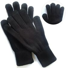 Magic Black Winter Men Women Knit Mittens Touch Screen Gloves For Smartphone