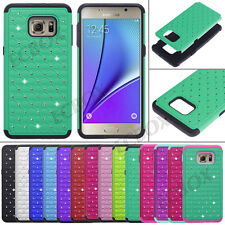 Hybrid Bling Crystal Soft Silicone Hard Combo Case For Samsung Galaxy S / Note