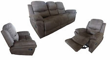New Luxury Faux Leather /Faux SuedeRecliner Sofa Suite Brown, Grey