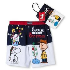 SNOOPY PEANUTS CHARLIE BROWN UNDERWEAR BOXER Christmas 100% COTTON SM  LG NWT