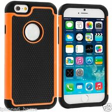 Heavy Duty Tough Armor Dual Layer Orange Hybrid Case Cover For Apple iPhone 6/6s