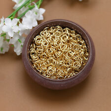Lot 6mm Gold plated jewelry Open Jump Split Rings Connectors Loop Fishing Tackle