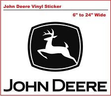 John Deere Vinyl Sticker Decal - Several Sizes and Colors - Free US Shipping