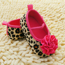 Infant Girl Soft Soled Crib Shoes Floral Leopard Toddler Baby Shoes 0-18 Months