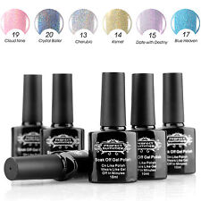 Perfect Summer Glitter Manicure Art UV Gel Polish Nail Varnish Kit Set 6 Colors
