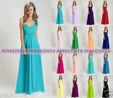 New One Shoulder Formal Long Evening Ball Gown Party Bridesmaid Dress Size 6-18
