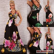 Womens Dress Size 8-10 Party Casual Maxi Halter Neck Floral Sexy Summer Fashion