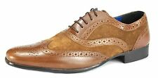 Red Tape Carn Two Tone Mens Leather Suede Brogues Lace Up  Shoes Tan / Tan