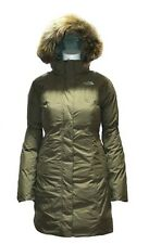 THE NORTH FACE Womens Julie Down Jacket Taupe Green XL Parka Coat Waterproof NEW